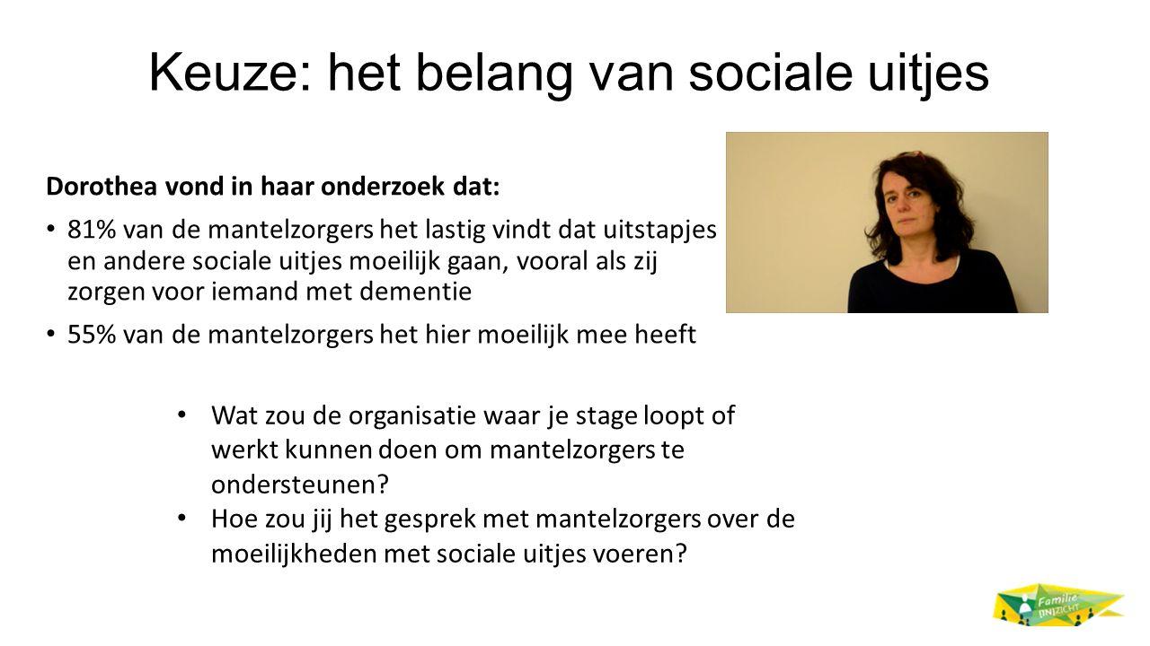 Keuze: het belang van sociale uitjes