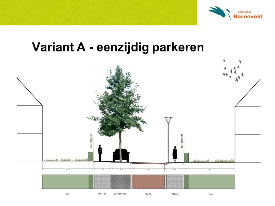 Variant A - eenzijdig parkeren
