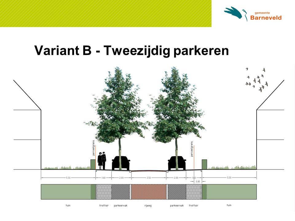 Variant B - Tweezijdig parkeren