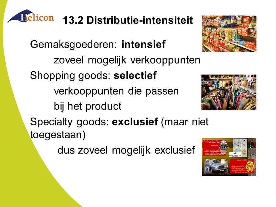 13.2 Distributie-intensiteit