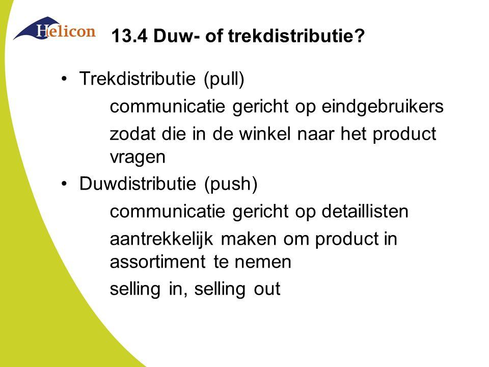 13.4 Duw- of trekdistributie