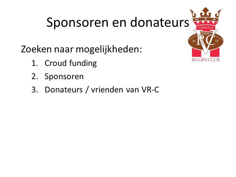 Sponsoren en donateurs