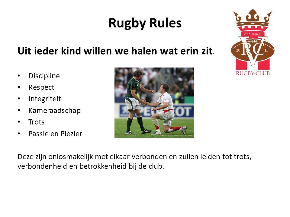Rugby Rules Uit ieder kind willen we halen wat erin zit. Discipline