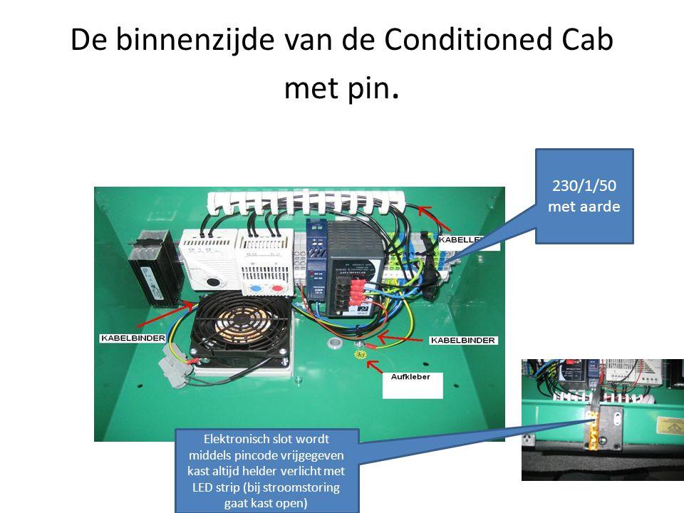 De binnenzijde van de Conditioned Cab met pin.