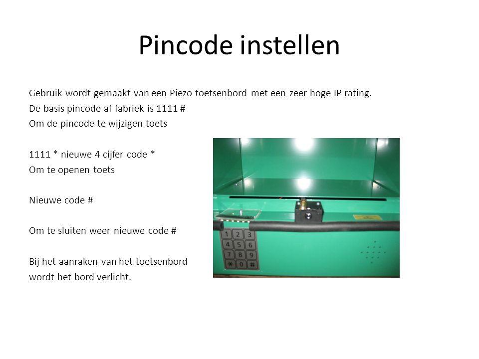 Pincode instellen
