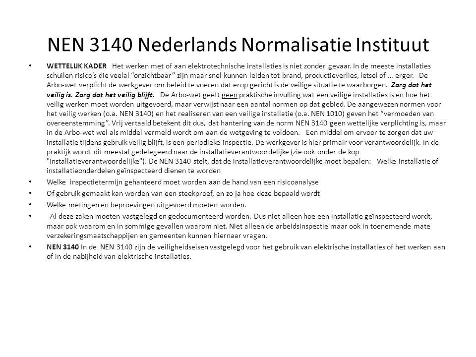 NEN 3140 Nederlands Normalisatie Instituut