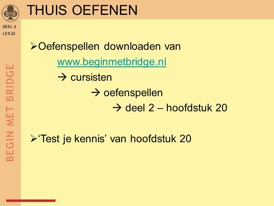 THUIS OEFENEN Oefenspellen downloaden van www.beginmetbridge.nl