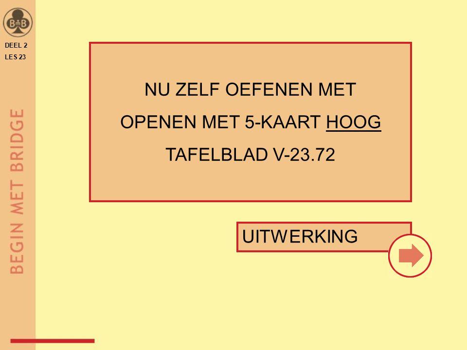 NU ZELF OEFENEN MET OPENEN MET 5-KAART HOOG TAFELBLAD V-23.72