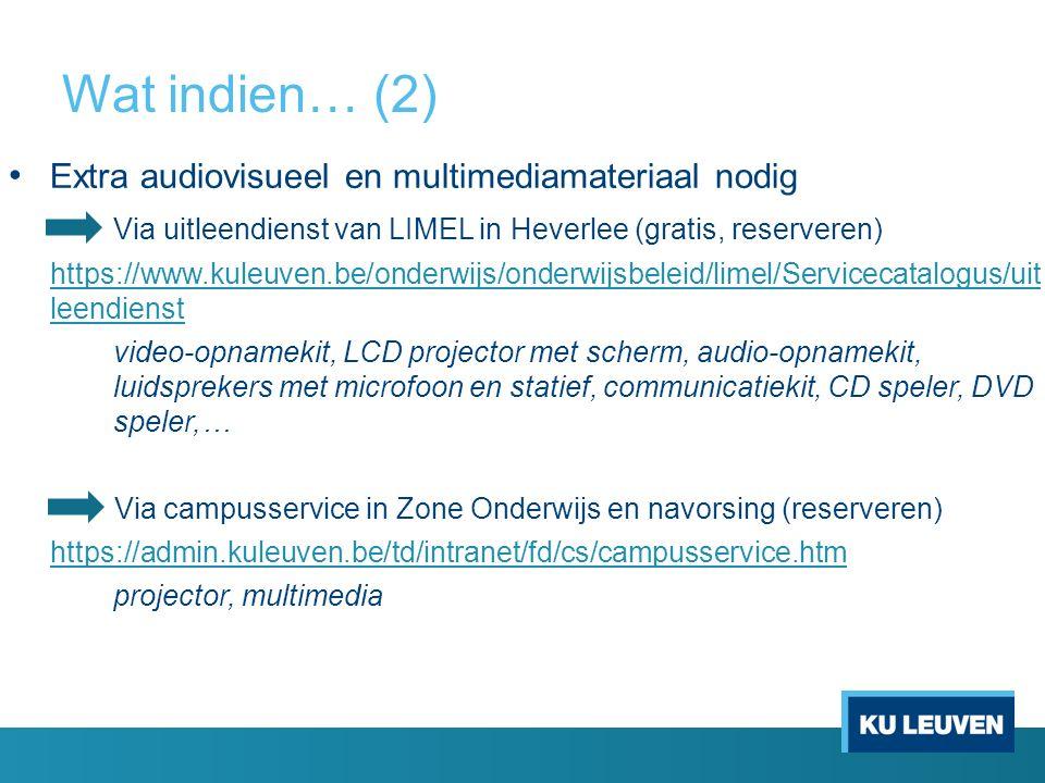 Wat indien… (2) Extra audiovisueel en multimediamateriaal nodig