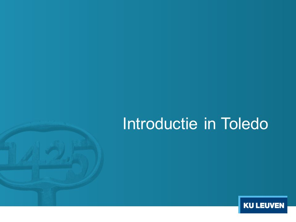Introductie in Toledo