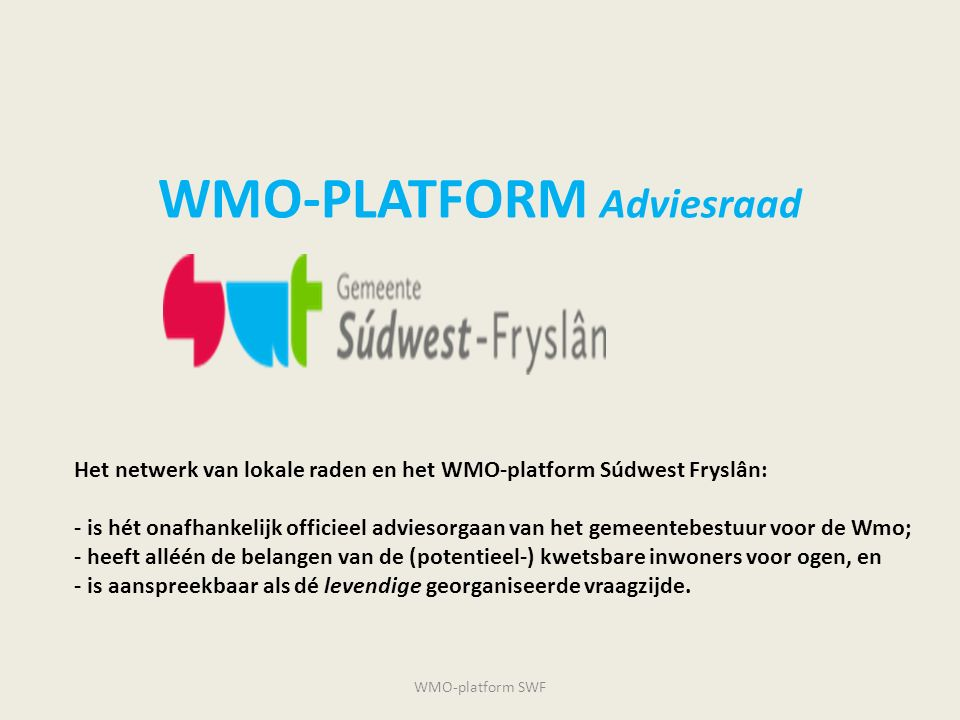 WMO-PLATFORM Adviesraad