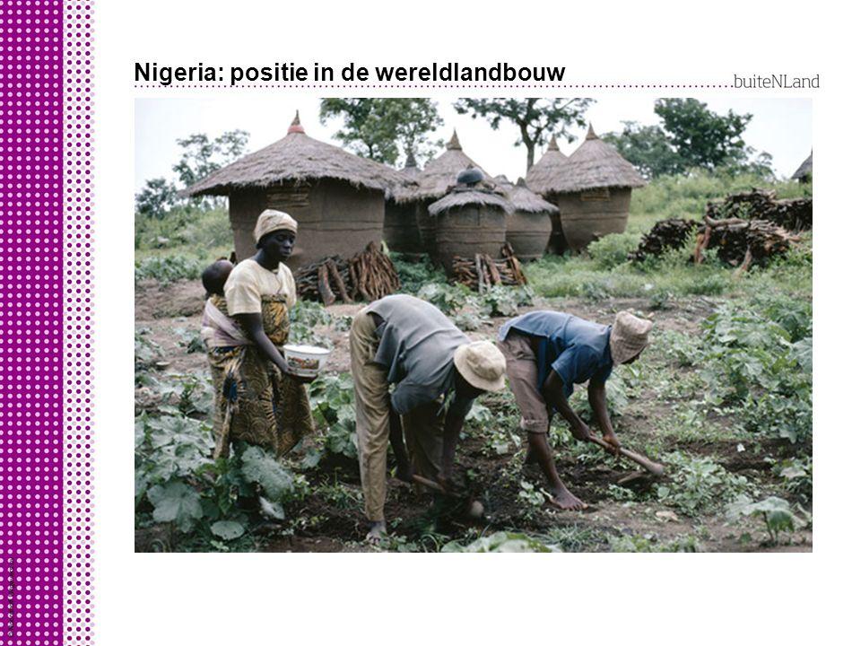Nigeria: positie in de wereldlandbouw