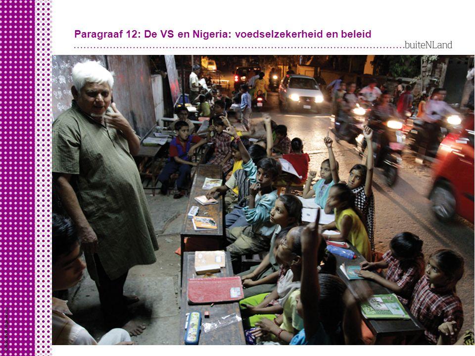 Paragraaf 12: De VS en Nigeria: voedselzekerheid en beleid