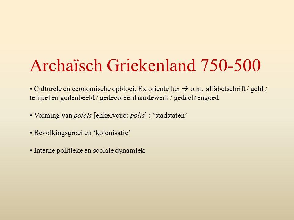 Archaïsch Griekenland 750-500