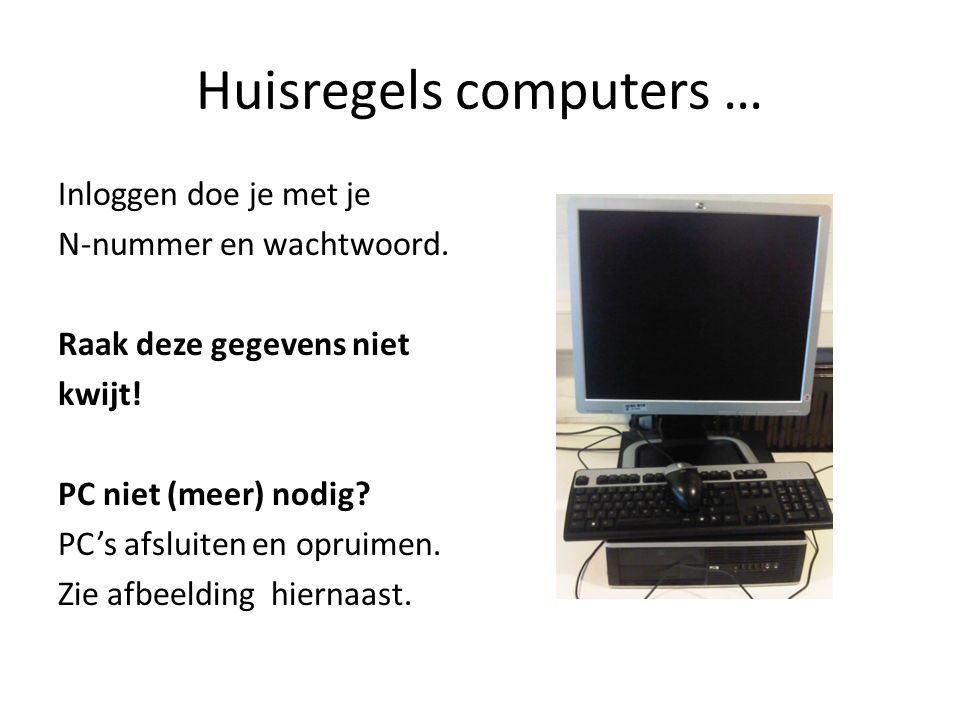Huisregels computers …