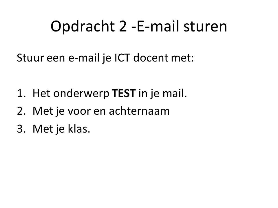 Opdracht 2 -E-mail sturen