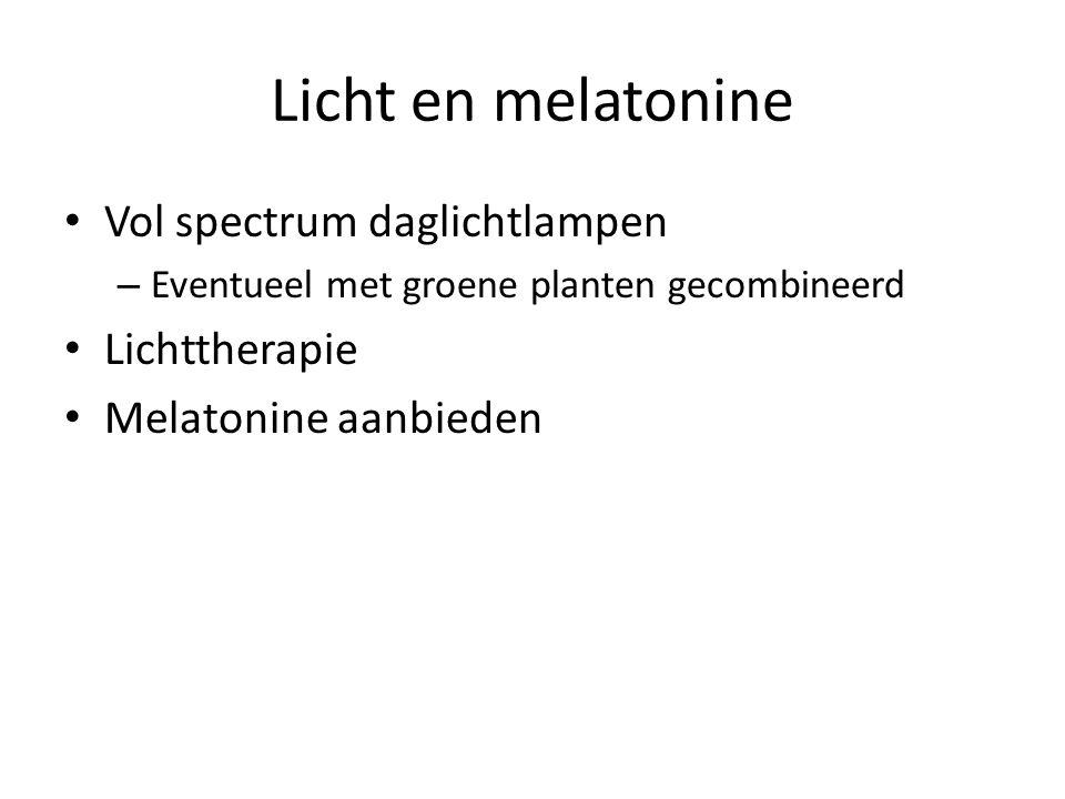Licht en melatonine Vol spectrum daglichtlampen Lichttherapie