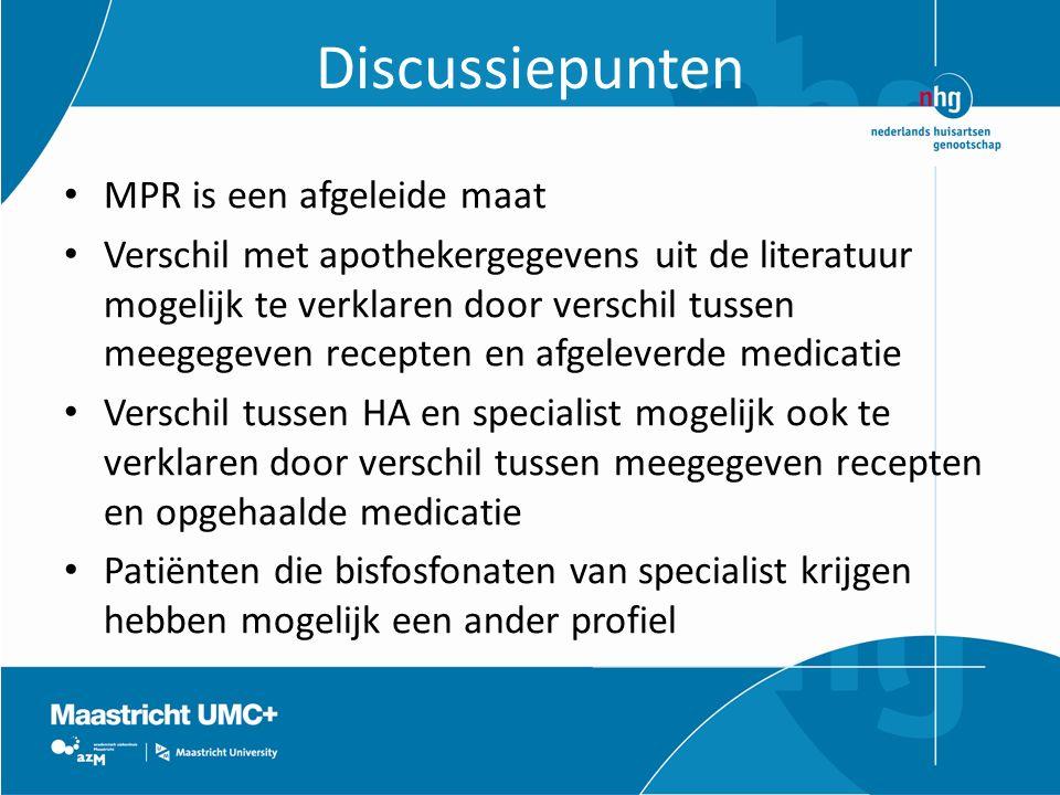 Discussiepunten MPR is een afgeleide maat