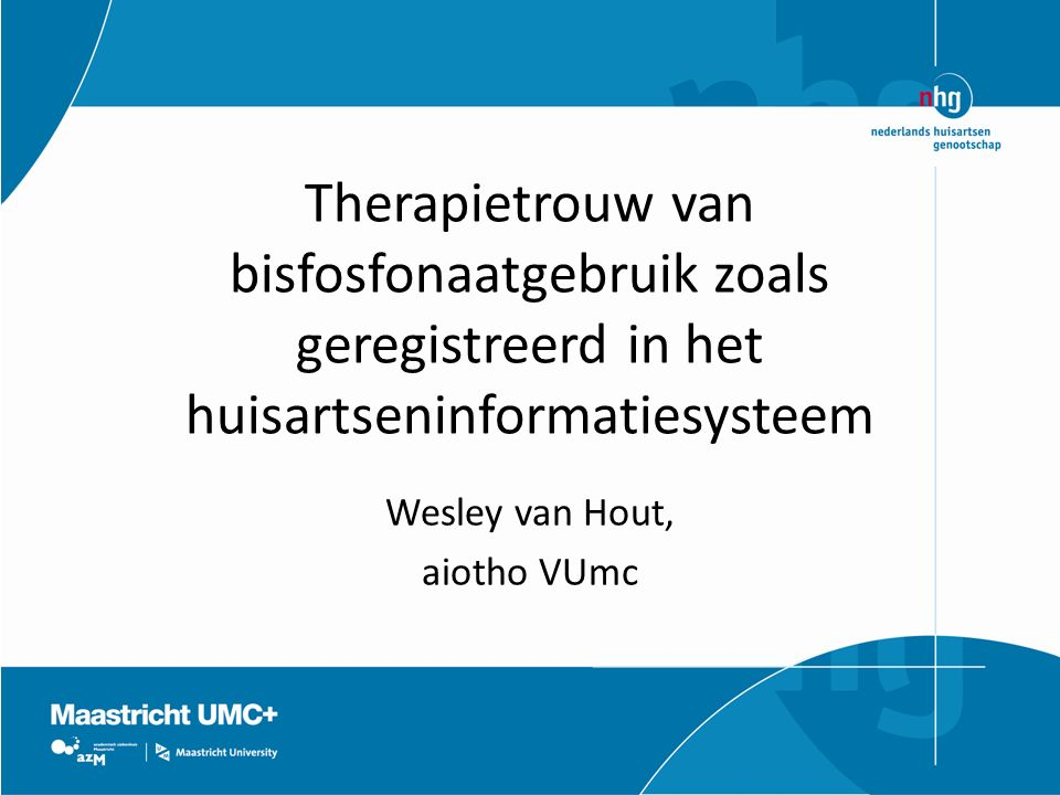 Wesley van Hout, aiotho VUmc