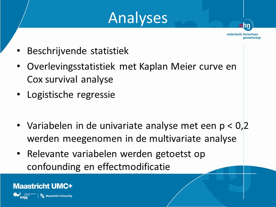 Analyses Beschrijvende statistiek