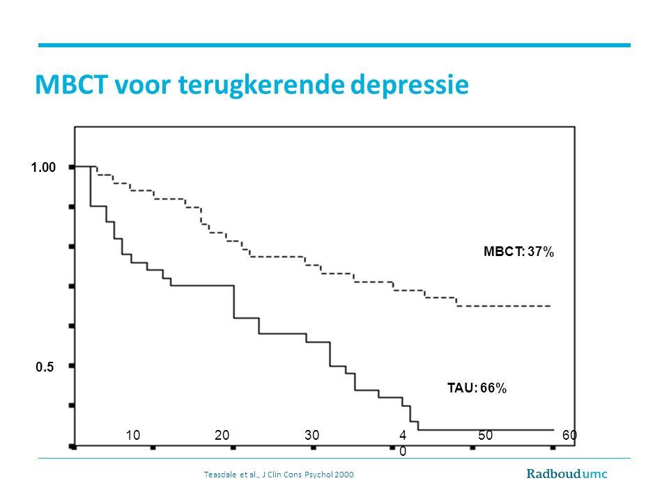 MBCT voor terugkerende depressie