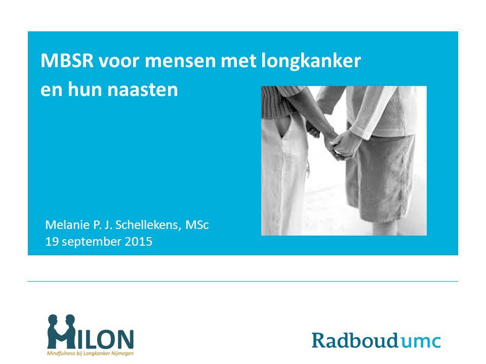 MBSR voor mensen met longkanker en hun naasten