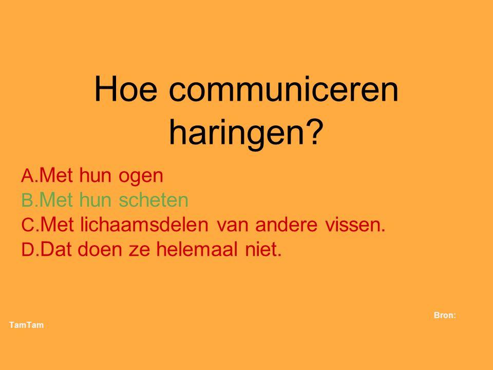 Hoe communiceren haringen
