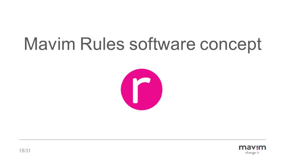 Mavim Rules software concept