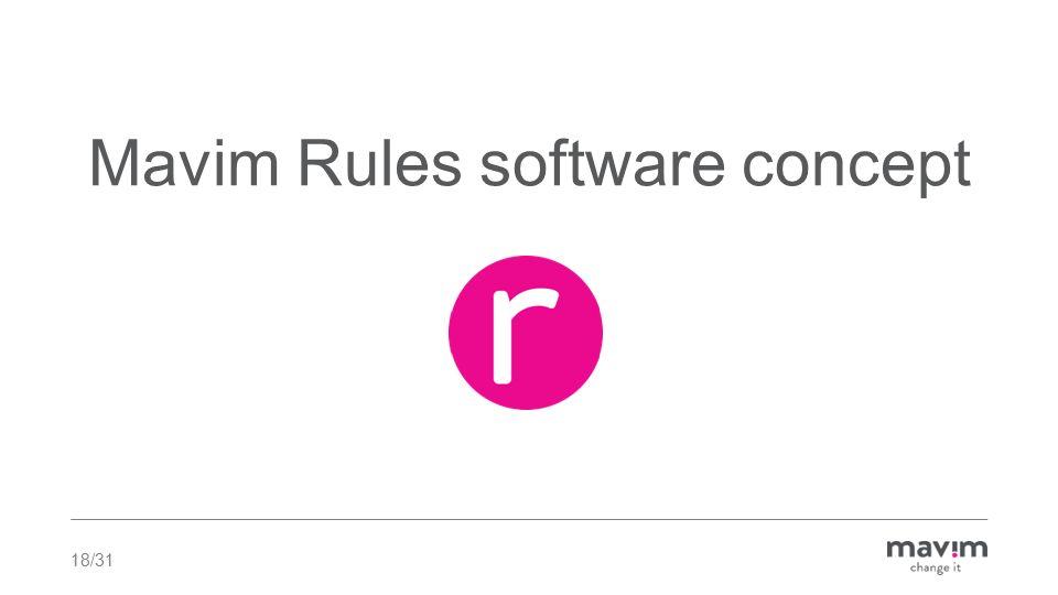 Mavim Rules software concept