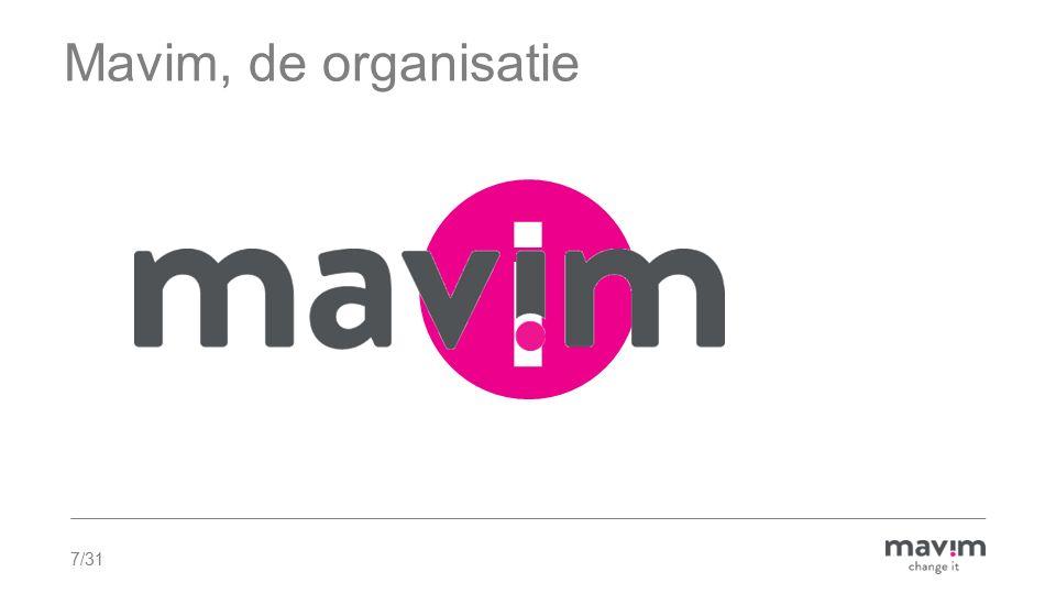 Mavim, de organisatie i. Mavim staat voor methodische aanpak voor informatie management.