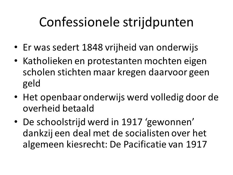 Confessionele strijdpunten