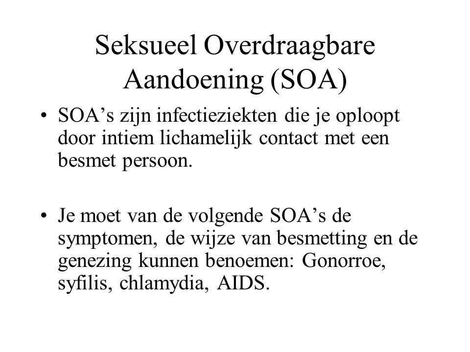 Seksueel Overdraagbare Aandoening (SOA)