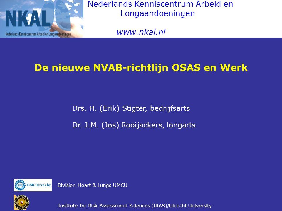 De nieuwe NVAB-richtlijn OSAS en Werk