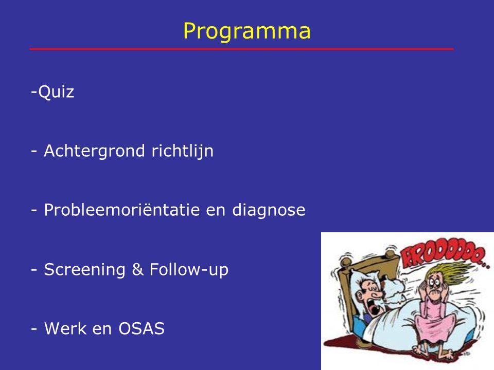 Programma -Quiz - Achtergrond richtlijn
