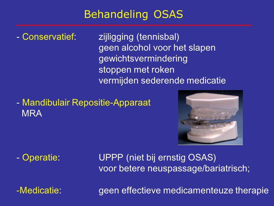 Behandeling OSAS Conservatief: zijligging (tennisbal)
