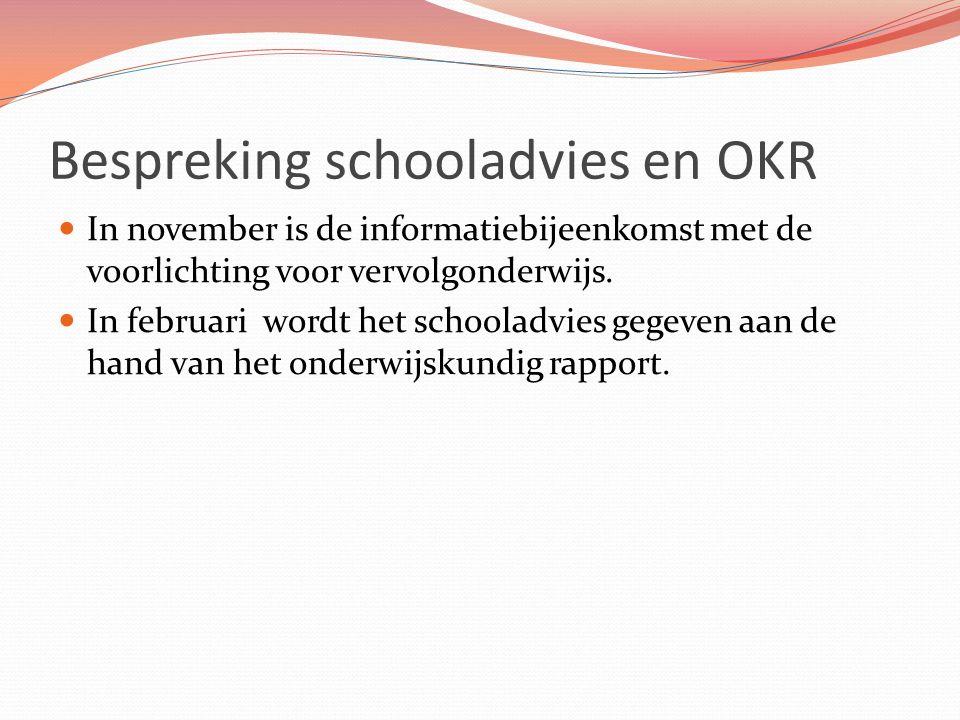 Bespreking schooladvies en OKR