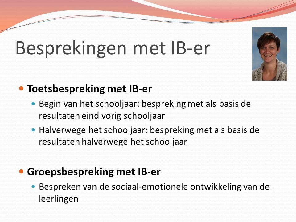 Besprekingen met IB-er