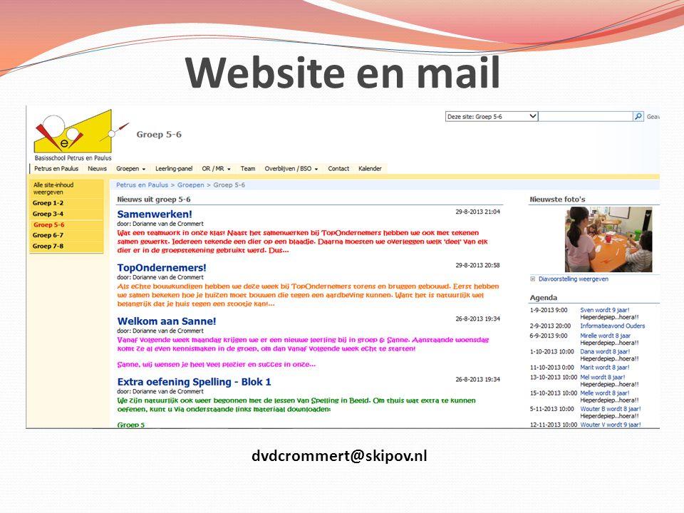Website en mail Léonie dvdcrommert@skipov.nl