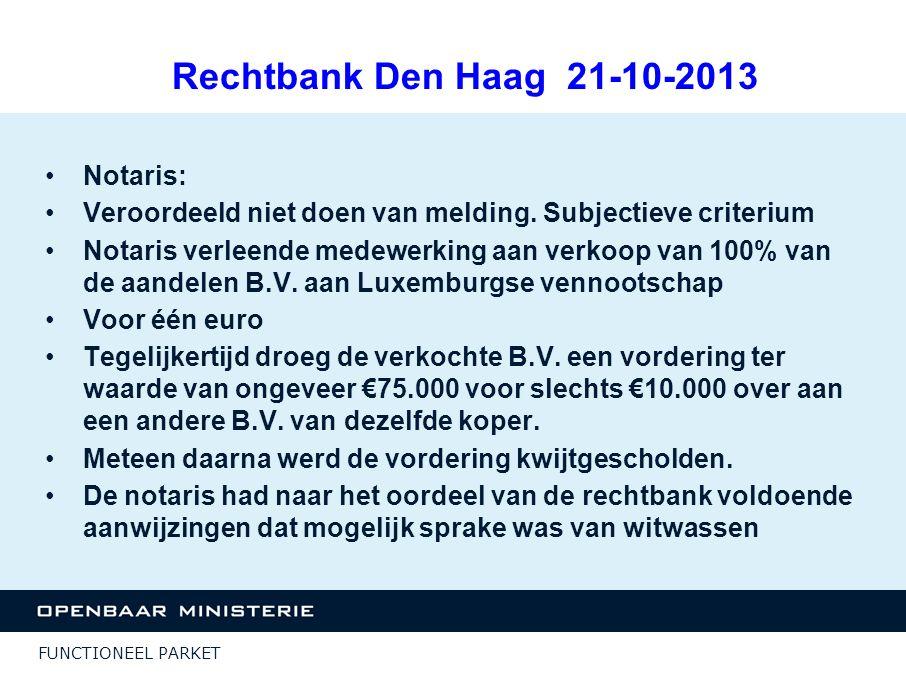 Rechtbank Den Haag 21-10-2013 Notaris: