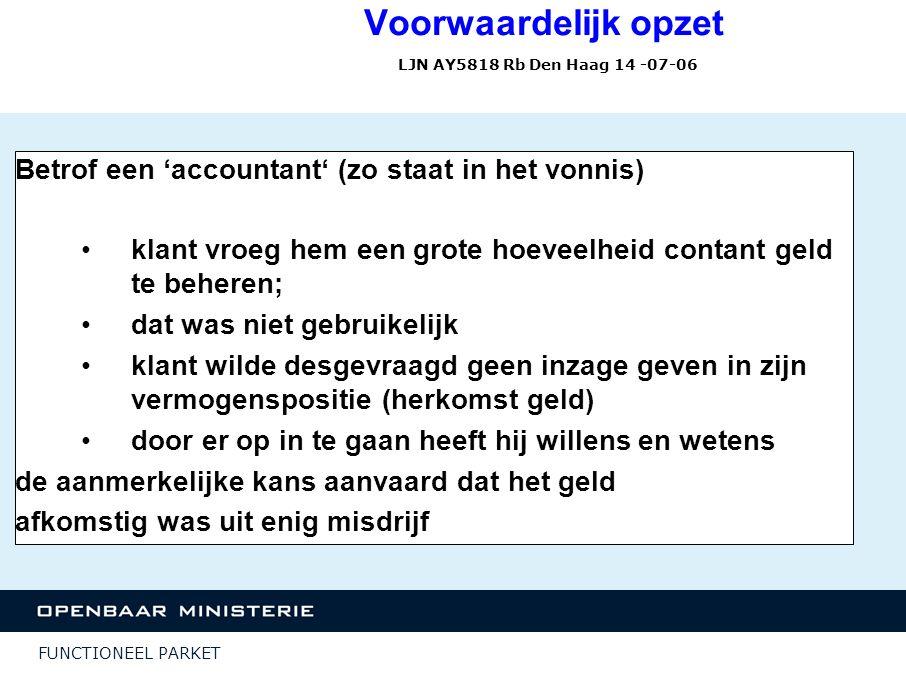 Voorwaardelijk opzet LJN AY5818 Rb Den Haag 14 -07-06