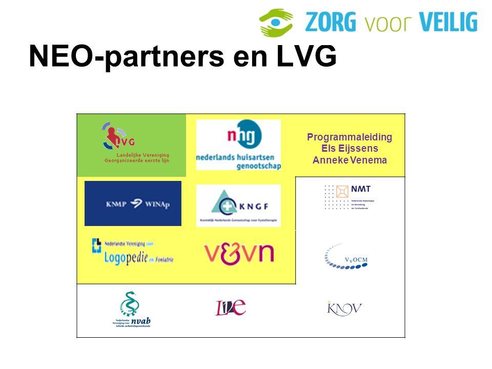 NEO-partners en LVG . Programmaleiding Els Eijssens Anneke Venema