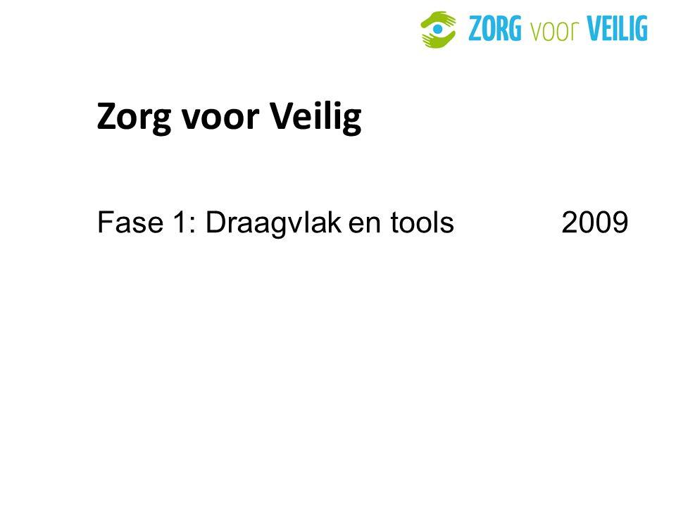 Zorg voor Veilig Fase 1: Draagvlak en tools 2009 31