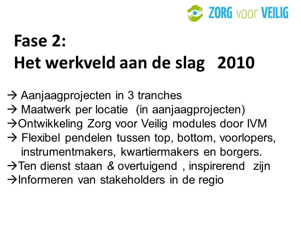Fase 2: Het werkveld aan de slag 2010