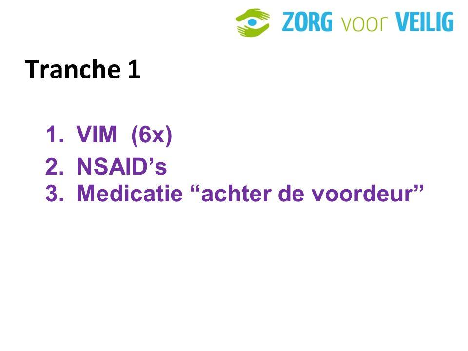 Tranche 1 VIM (6x) NSAID's Medicatie achter de voordeur