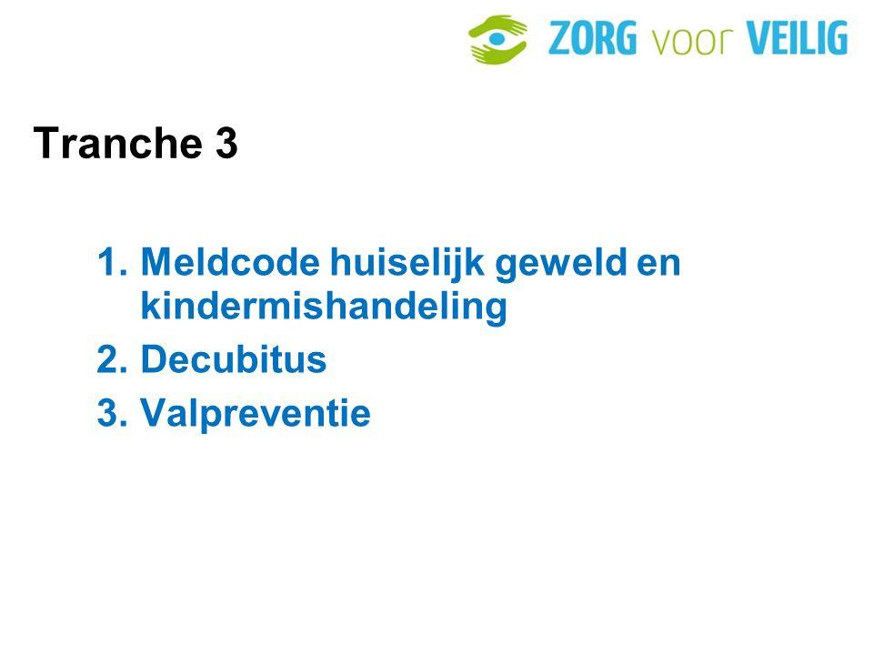 Tranche 3 Meldcode huiselijk geweld en kindermishandeling Decubitus