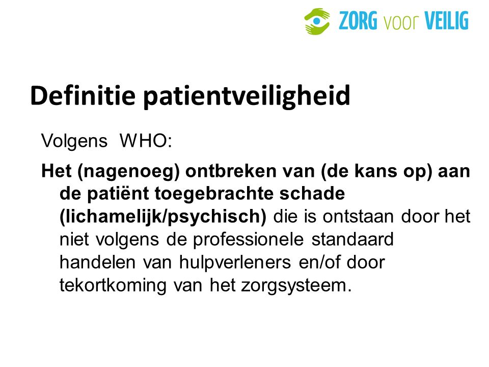 Definitie patientveiligheid