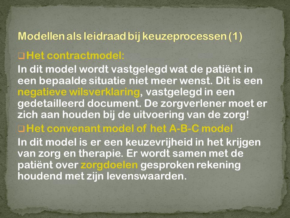 Modellen als leidraad bij keuzeprocessen (1)