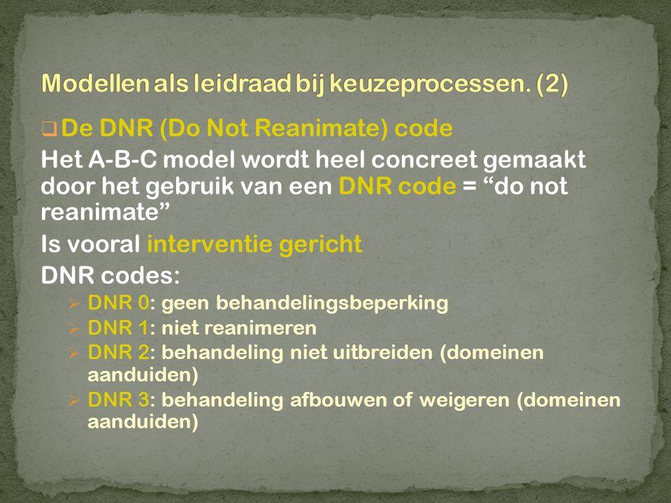 Modellen als leidraad bij keuzeprocessen. (2)