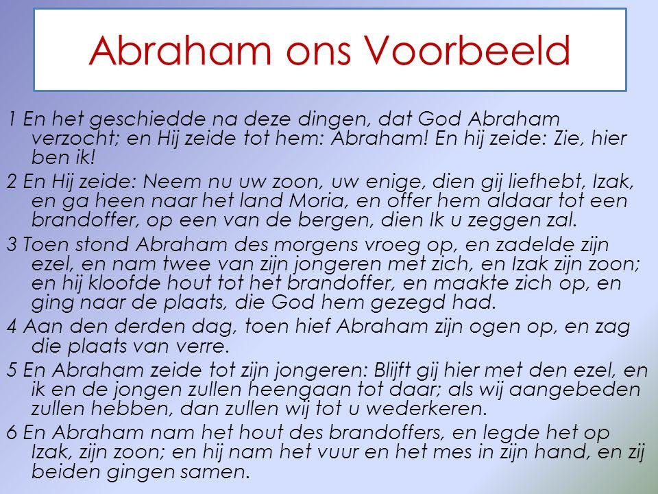 Abraham ons Voorbeeld