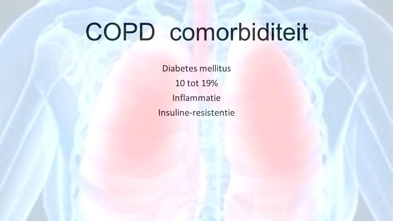 Diabetes mellitus 10 tot 19% Inflammatie Insuline-resistentie